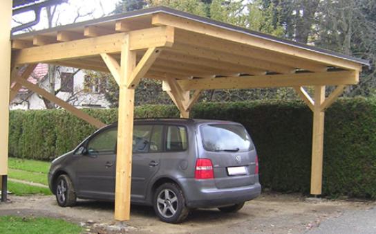 Leseni nadstreški za vozila in terase